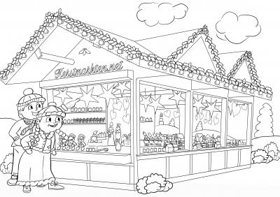 Kerstmarkt Kleurplaten Voor Kinderen Kerstmarkten Net