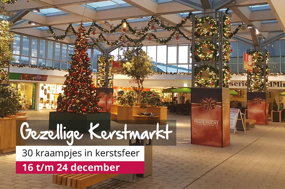 Kerst-kado-wintermarkt winkelcentrum Hoge Vucht Breda in Breda