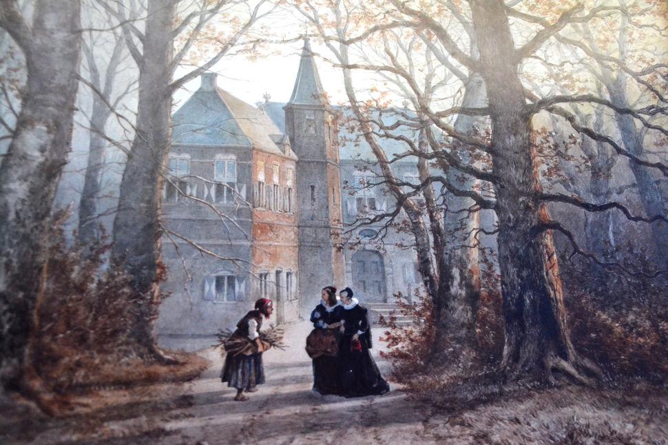 19e eeuwse afbeelding van Kasteel Vorden