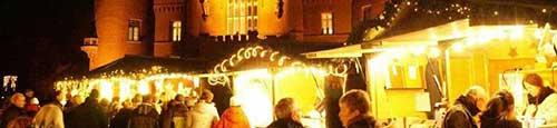 Kerstmarkt bij slot Moyland in Bedburg