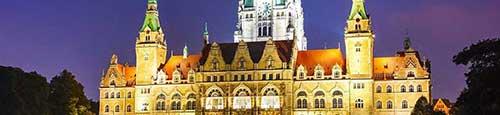 Kerstmarkt in de historische binnenstad van Hannover